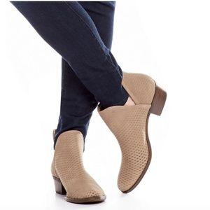 Lucky Brand Bashina Nubuck Leather Booties